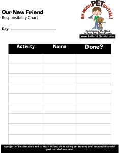 Christmas Puppy, Dog, or Other Pet Responsibility Chart