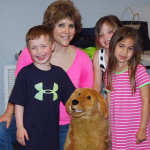 Lisa Desatnik and kids at the Madeira Branch Library in Cincinnati