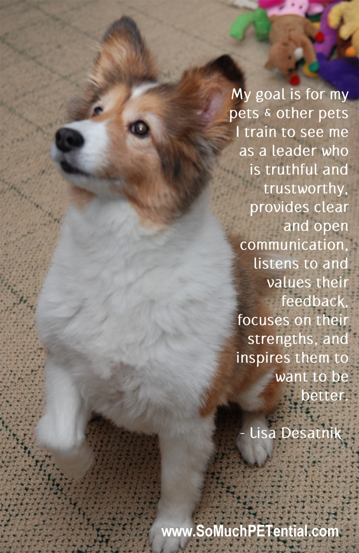 quote about dog training by Lisa Desatnik