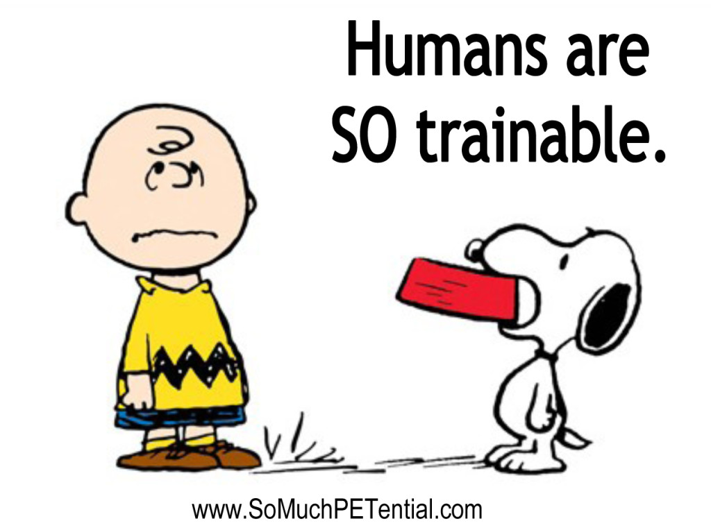 humans are so trainable