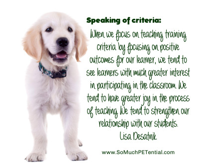 defining criteria and success in dog training