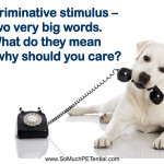 discriminative stimulus and cues in animal training
