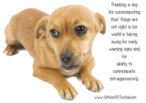 should you punish your dog for growling