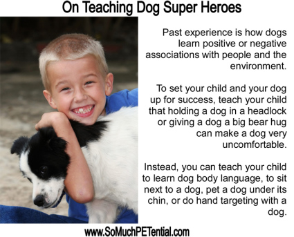 My Dog's Super Hero is a Cincinnati bite prevention and dog training class for kids by Lisa Desatnik