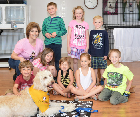 Cincinnati My Dog's Super Hero kids class by dog trainer Lisa Desatnik