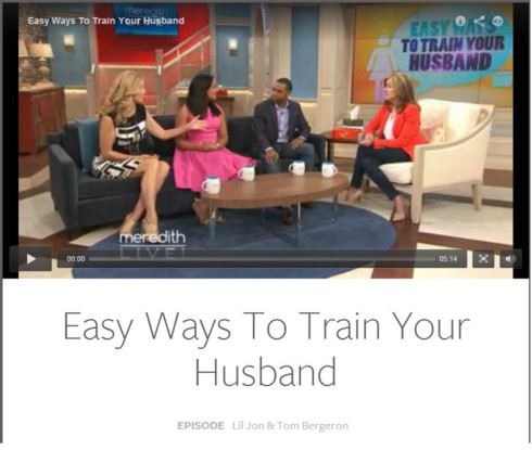 Training people as you train dogs and parrots was the topic of the Meredith Vieira Show