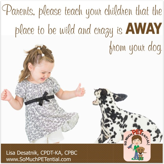 dog bite prevention tip for parents from Cincinnati certified dog trainer, Lisa Desatnik, CPDT-KA, CPBC