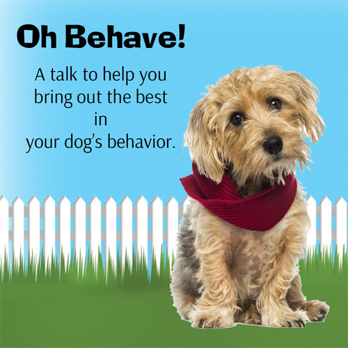 Oh Behave, a talk on dog behavior and training by Cincinnati Certified Dog Trainer, Lisa Desatnik
